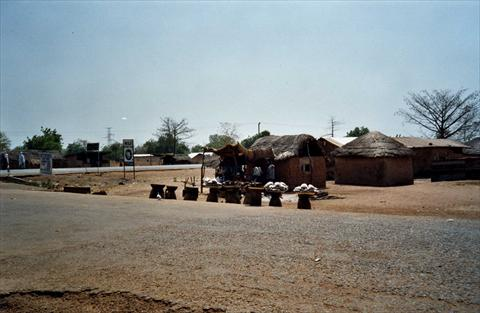 Huts in the village
