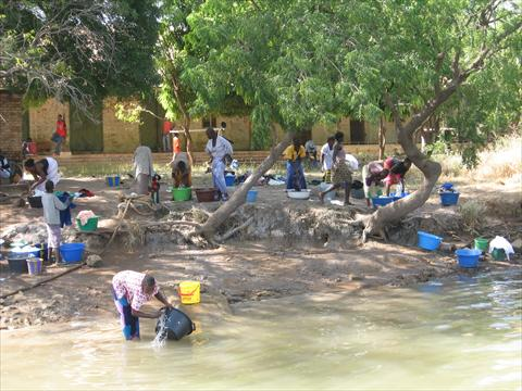 Washing in the Gambia River
