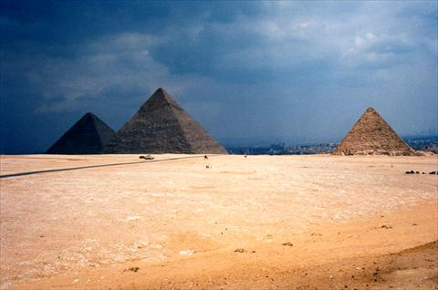 The pyramids from a distance