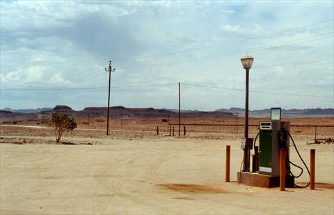 Petrol Station in the desert