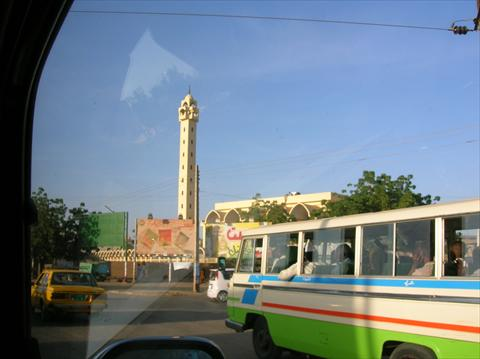 Khartoum mosque and bus