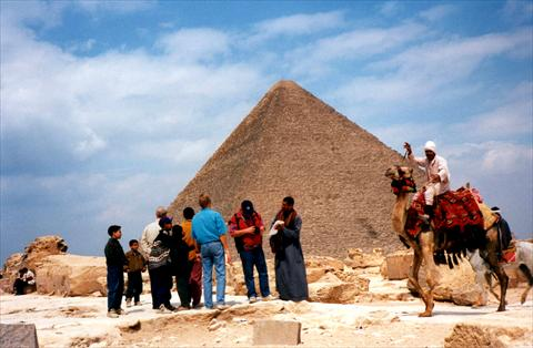 Tourism at the pyramids