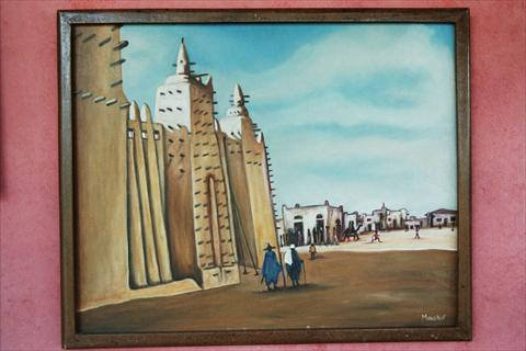 Painting Mosque Djenne