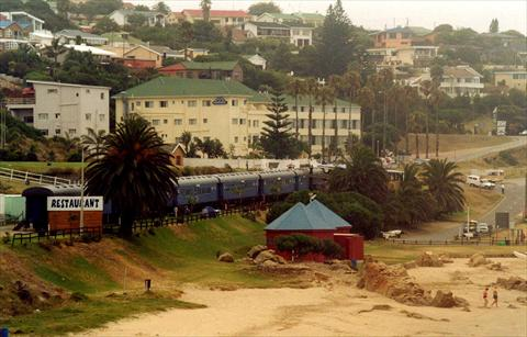 Hostel-train at the beach