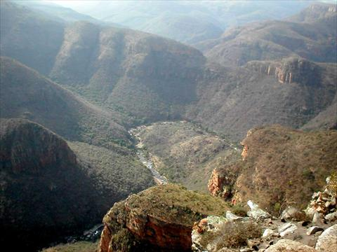 View over the canyon