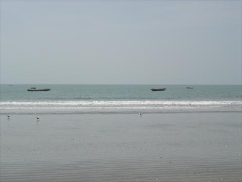 Boats in sea