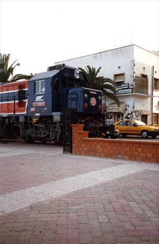 Train in town