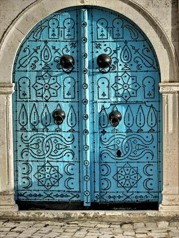 an old door in sidi bou said