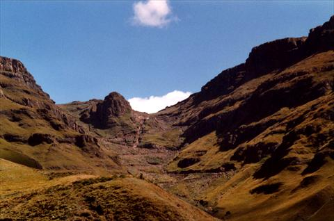View up the pass