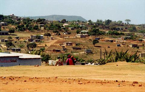 Township on a hill