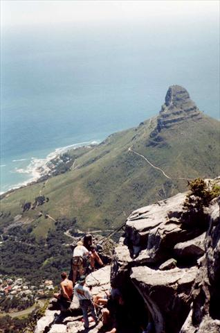 Abseiling from table mountain